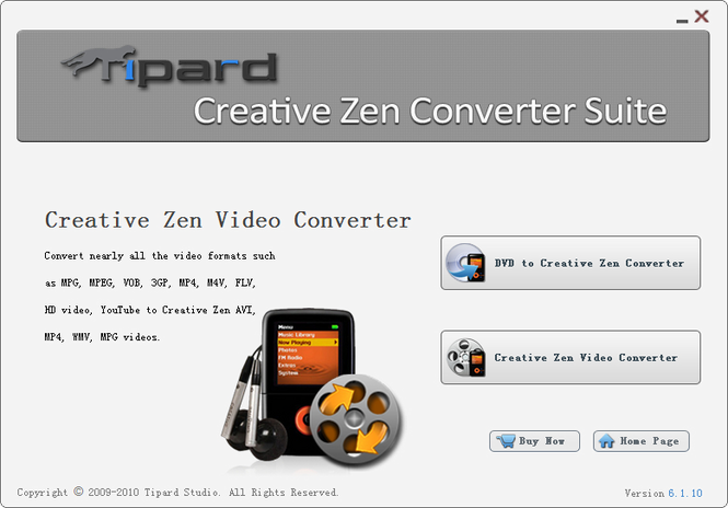 Tipard Creative Zen Converter Suite Screenshot 1
