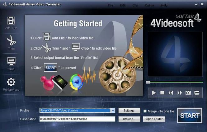 4Videosoft iRiver Video Converter Screenshot 3