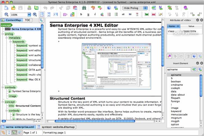 Serna Enterprise for Mac OS X Screenshot 3
