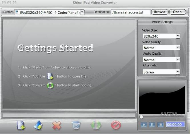 Shine iPod Video Converter for Mac Screenshot 3