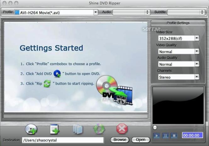 Shine DVD Ripper for Mac Screenshot 3