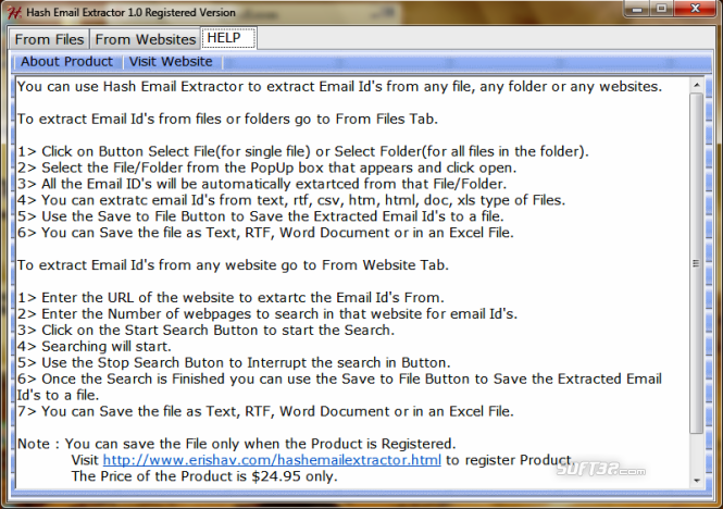 Hash Email Extractor Screenshot 2