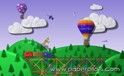 Paper Pilots Screensaver Screenshot