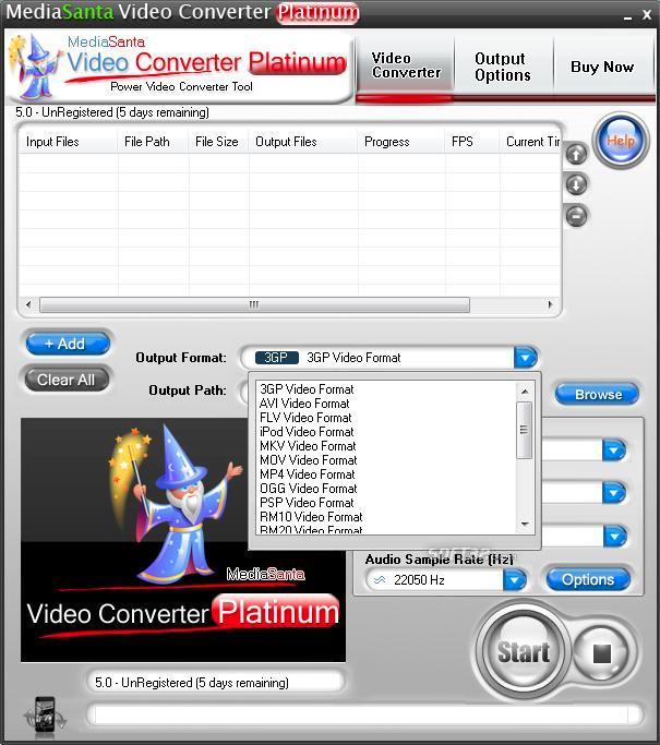 MediaSanta Video Converter Platinum Screenshot 3