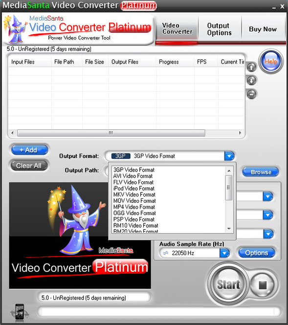 MediaSanta Video Converter Platinum Screenshot