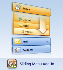 AllWebMenus Sliding Menus Add-in Screenshot