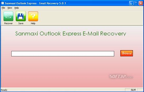 Emails Recovery Tool Screenshot 2