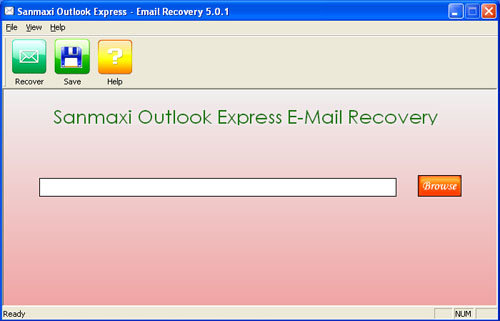 Emails Recovery Tool Screenshot