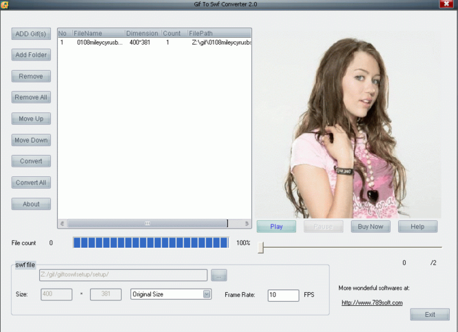 Gif To Swf Converter Screenshot 1