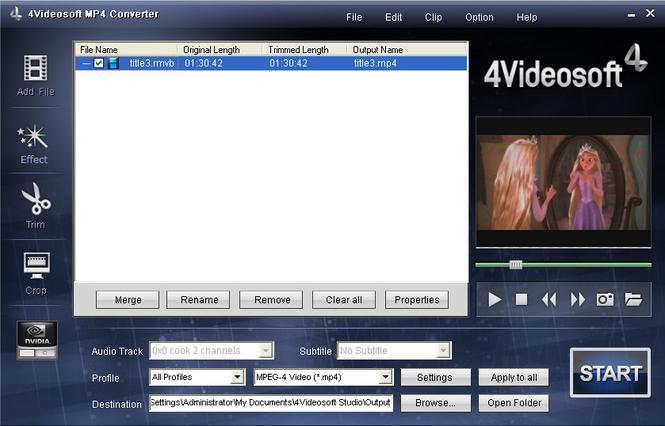 4Videosoft MP4 Converter Screenshot 2