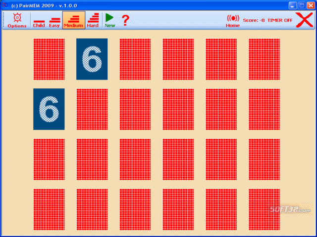 PairMEM Memory Game U3 Edition Screenshot