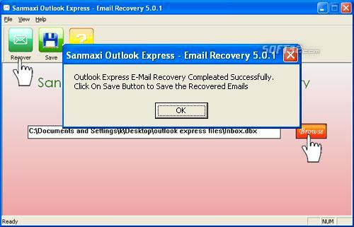 Recovers deleted emails Screenshot 2