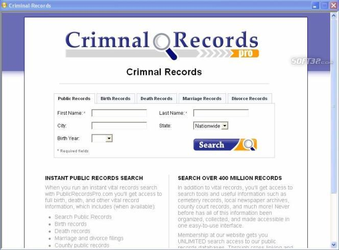 Criminal Court Records Screenshot