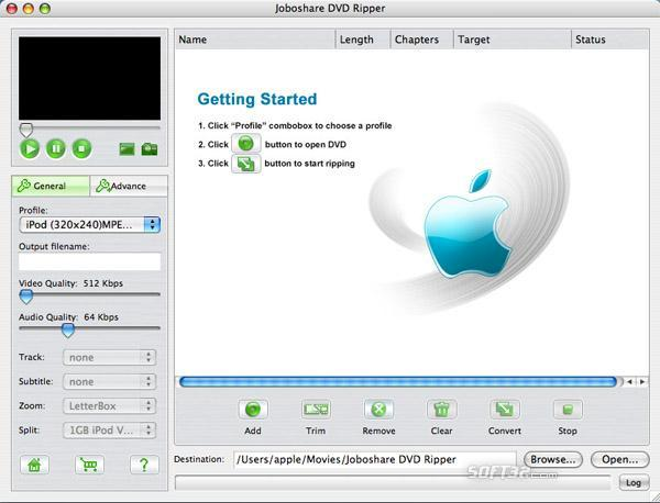 Joboshare DVD Ripper for Mac Screenshot 2