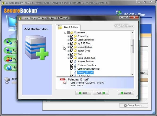 SecureBackup HOME: Online Backup Screenshot 2