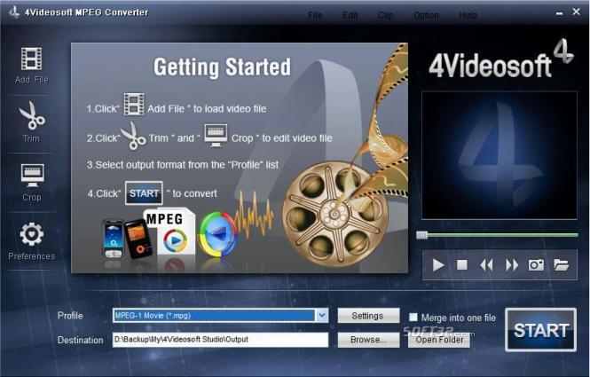 4Videosoft MPEG Converter Screenshot 2