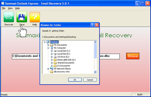 Restore deleted email utility Screenshot 1