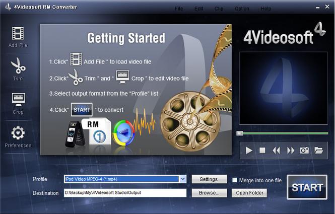 4Videosoft RM Converter Screenshot