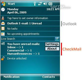 Magica CheckMail Screenshot 2