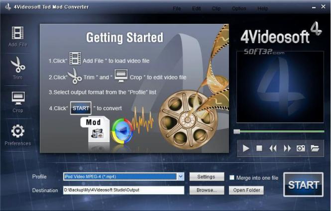 4Videosoft Tod Mod Converter Screenshot 2