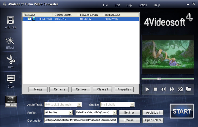 4Videosoft Palm Video Converter Screenshot 1