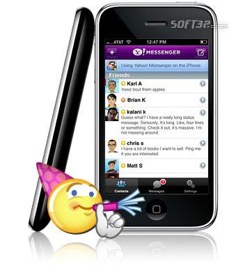 Yahoo! Messenger for iPhone Screenshot