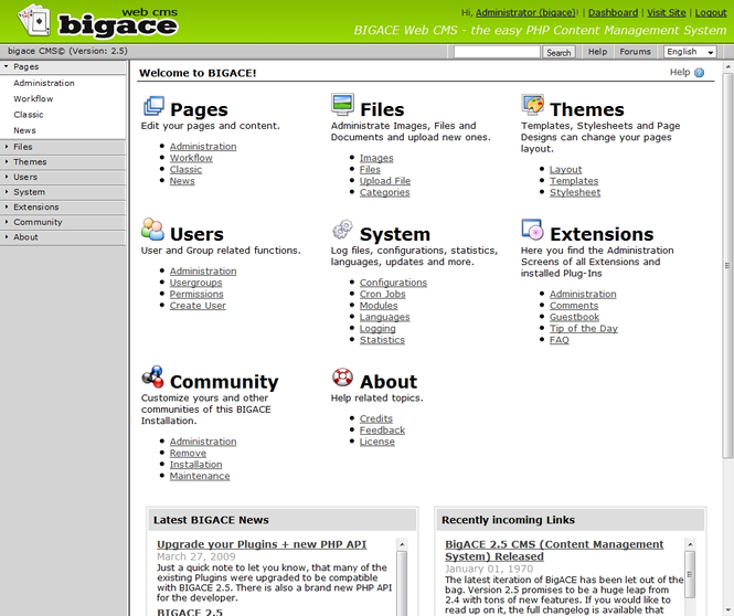 BIGACE Screenshot
