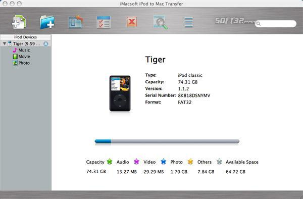 iMacsoft iPod to Mac Transfer Screenshot 2