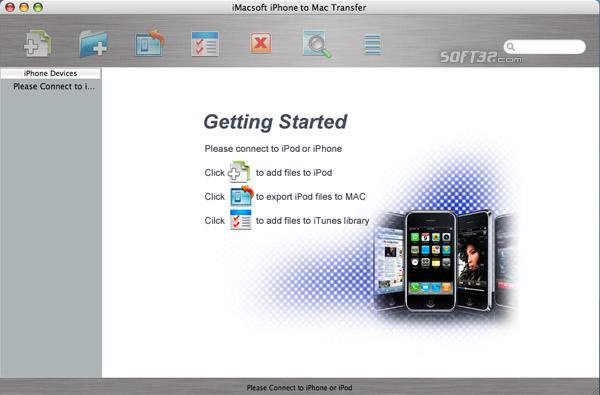 iMacsoft iPhone to Mac Transfer Screenshot 2