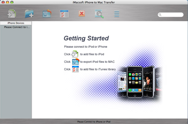 iMacsoft iPhone to Mac Transfer Screenshot