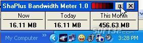 ShaPlus Bandwidth Meter Screenshot 2