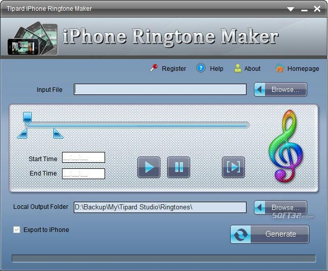 Tipard iPhone Ringtone Maker Screenshot 2
