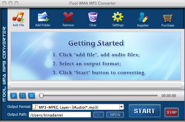 iTool WMA MP3 Converter for MAC Screenshot 1