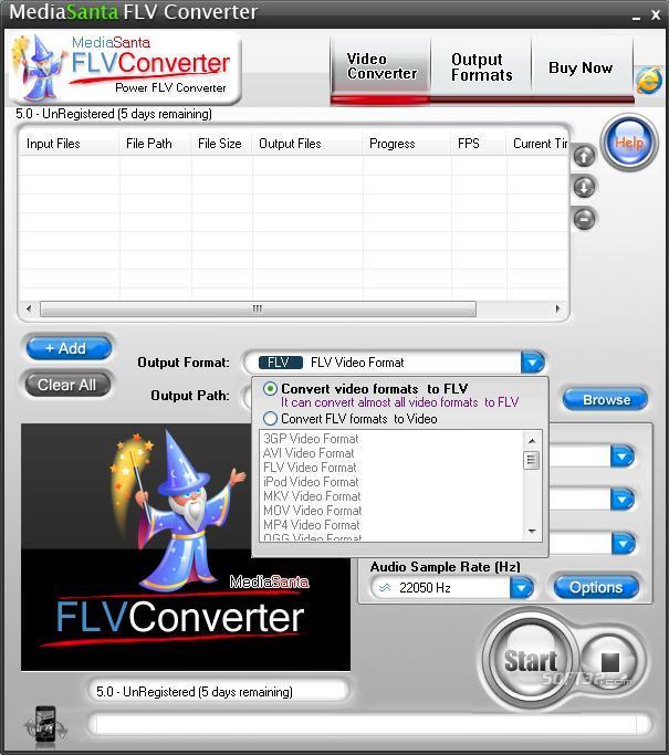 MediaSanta FLV Converter Screenshot 2