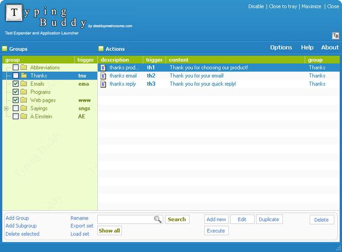 Text Expander and Application Launcher Screenshot 1
