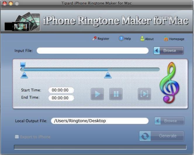 Tipard iPhone Ringtone Maker for Mac Screenshot 2