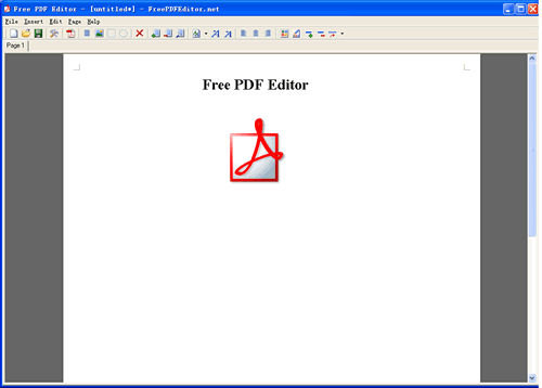 Free PDF Editor Screenshot