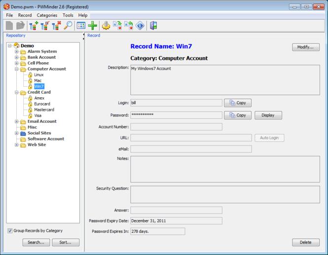 PWMinder Screenshot 1