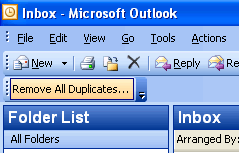 Remove All Duplicates for Outlook Screenshot