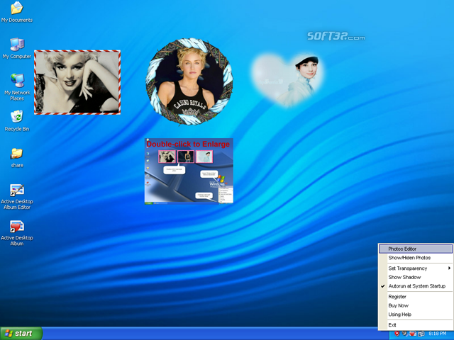 Active Desktop Album Screenshot
