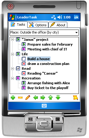 LeaderTask PDA Organizer Screenshot