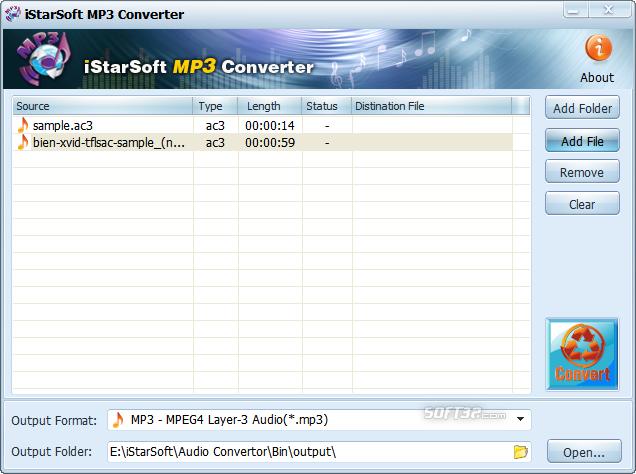 iStarSoft MP3 Converter Screenshot 2