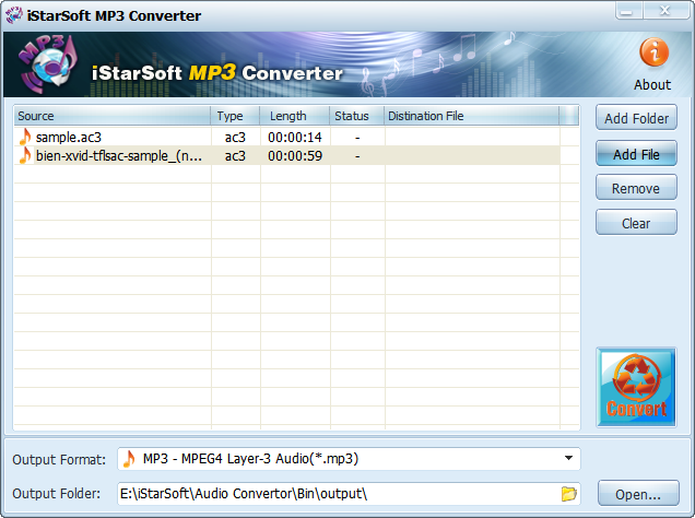 iStarSoft MP3 Converter Screenshot