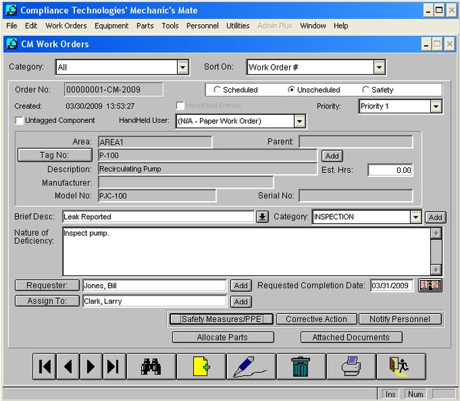 Mechanic's Mate CMMS Screenshot 1
