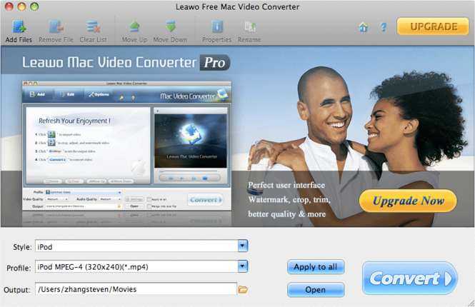 Leawo Free Mac Video Converter Screenshot 1