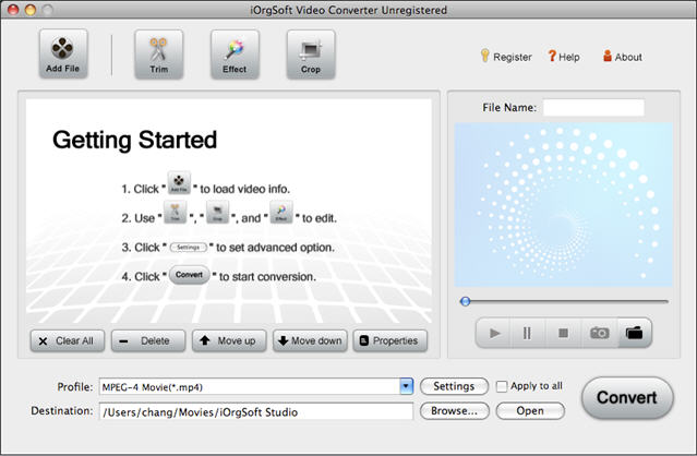 Video Converter for Mac Screenshot