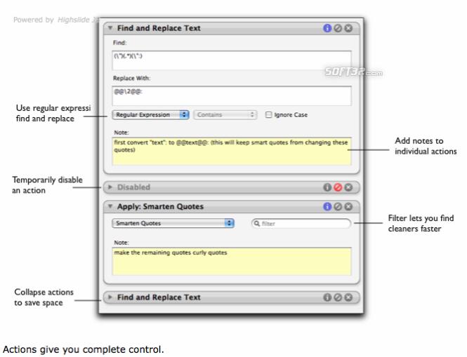 TextSoap Screenshot 2