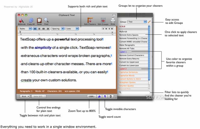 TextSoap Screenshot 1