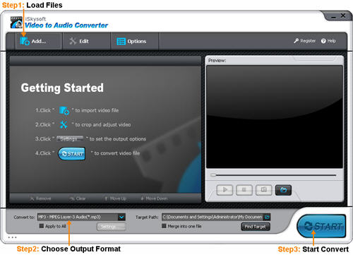 iSkysoft Video to Audio Converter Screenshot 1