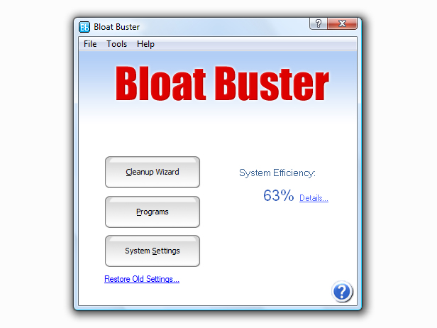Bloat Buster Screenshot